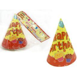 """96 Bulk Hats Party 8pc 6.3"""""""