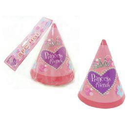 "96 Bulk Hats Party 8pc 6.3"" Princess"