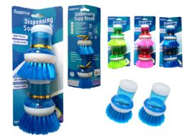 96 Bulk 2 Piece Dishwasher Scrubbers 3 Assorted Colors