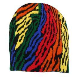36 Bulk Winter Beanie Colorful Hat