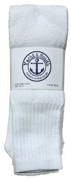 240 Bulk Yacht & Smith Men's White Cotton Terry Tube Socks,30 Inch Long Athletic Tube Socks, Size 10-13