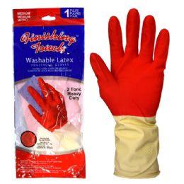 72 Bulk Latex Glove Hd 2 Tone Medium