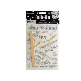 144 Bulk Wedding Sayings RuB-On Transfers