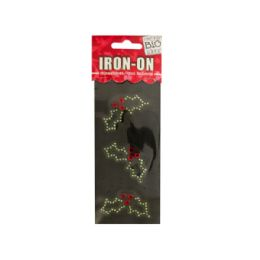 144 Bulk Holly Rhinestone IroN-On Transfer
