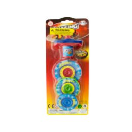 36 Bulk 3-Layer Bouncing Top Spinner Toy