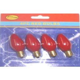 144 Bulk 4pc Night Light Bulbs Red