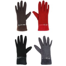 36 Bulk Touch Screen Gloves Ladies Assorted Color
