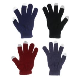 72 Bulk Glove ( Touch Screen Gloves ) Assorted Color