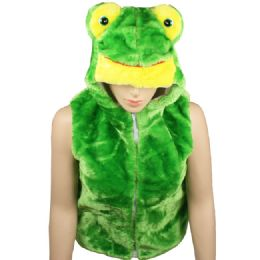 12 Bulk Kids Cute Frog Animal Vest With Frog Hat