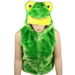 12 Bulk Kids Cute Frog Animal Vest With Frog Hat