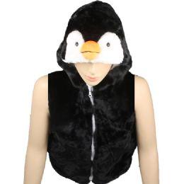 12 Bulk Kids Cute Penguin Animal Vest With Penguin Hat