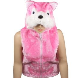 12 Bulk Kids Cute Pink Animal Fox Jacket With Animal Hat