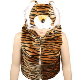 12 Bulk Kids Tiger Jacket With Hat