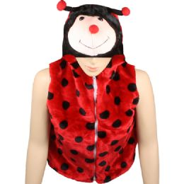 12 Bulk Kids Lady Bug Jacket With Hat
