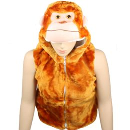 12 Bulk Kids Animal Monkey Jacket With Hat