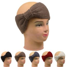 72 Bulk Ladies Winter Head Band Assorted Colors