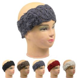72 Bulk Ladies Winter Headband Assorted Colors
