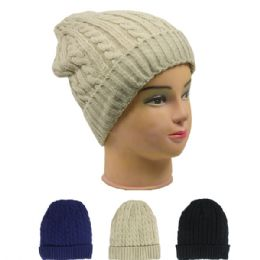 72 Bulk Ladies Fashion Beanie Assorted Colors