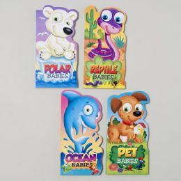 96 Bulk Board Books Mini Baby Animals 4 Asst Ocean,reptile,pet And Polar In Pdq