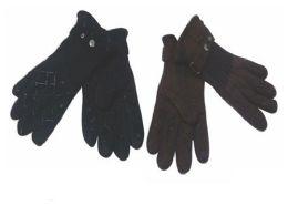72 Bulk Mens Fleece Winter Gloves Dark Colors