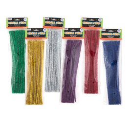 144 Bulk Chenille Stems Metallic 40 Pack