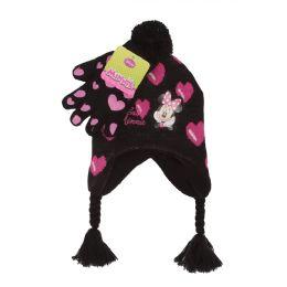 24 Bulk Chirldren Minnie Mouse Hat & Gloves Set