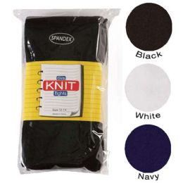 36 Bulk Girls Heavy Knit Tights Black Only Assorted Sizes