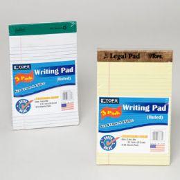 96 Bulk Tops Writting Pad 3pk