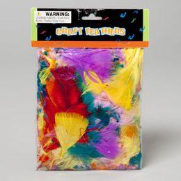 108 Bulk Craft Feathers MultI-Color 14g/.5oz Craft Polybag/header