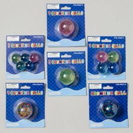 108 Bulk Bouncing Ball 6ast Styles Rainbow/glitter