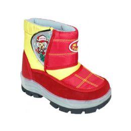 15 Bulk Children Printed Winter Boots Red