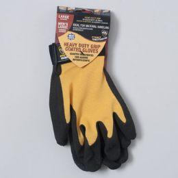 120 Bulk Gloves Nitrile Coated Spandex Large Black/yellow