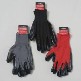 48 Bulk Nitrile Coated Work Gloves