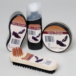 2 Bulk Shoe Polish Shipper 4ast Cream & Liquid Polish, Sponge & Brush In 69pc Floor Display