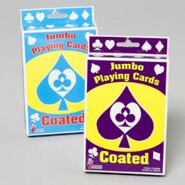 96 Bulk Playing Cards Jumbo 5x3.5in Coated Boxed Set 2asst Gov Logo