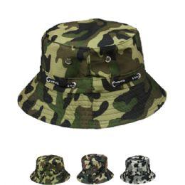 24 Bulk Camo Summer Bucket Hat