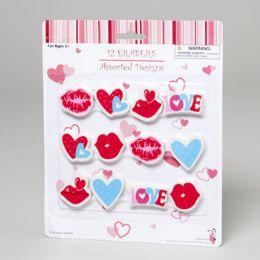 144 Bulk Erasers Novelty Valentine 12pk
