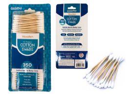 72 Bulk 350 Piece Wooden Cotton Swabs