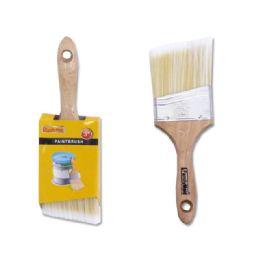 "144 Bulk Paint Brush Angle Wood 3"""