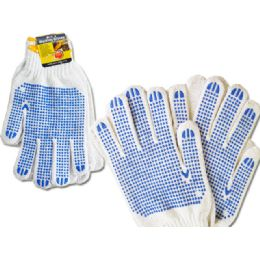 144 Bulk Working Gloves Men 2pairs Blue Clr