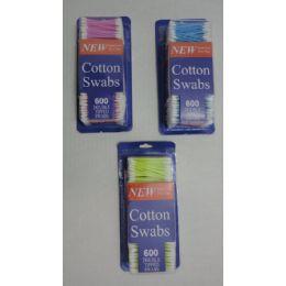 24 Bulk 600pc Cotton Ear Swabs