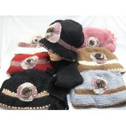 60 Bulk Ladies 2 Piece Winter Set Assorted Colors