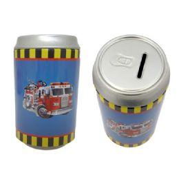 72 Bulk Saving Bank Tin Fire Truck