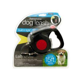 6 Bulk Retractable Dog Leash With Led Light