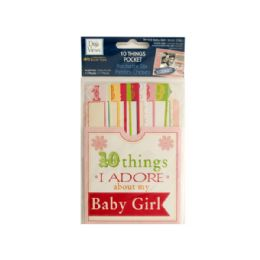 144 Bulk 10 Things I Adore About My Baby Girl Journaling Pocket