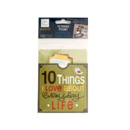144 Bulk 10 Things I Love About Everyday Life Journaling Pocket