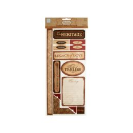 144 Bulk Heritage SelF-Adhesive Cardstock DiE-Cuts