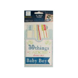 144 Bulk 10 Things I Adore About My Baby Boy Journaling Pocket