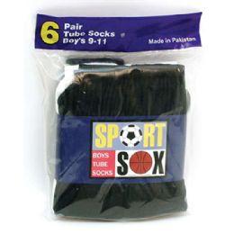 180 Bulk Boy's Tube Socks Size 4-6