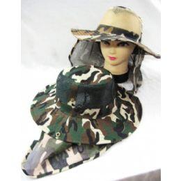 48 Bulk Men's Camo Summer Hat
